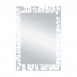 Miroir de salle de bain Lune Paroles Blanc 55x75 cm
