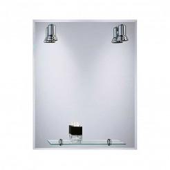 Miroir de salle de bain avec Projecteurs Balear Biseau 60x75 cm