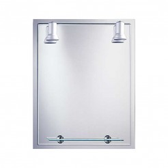 Miroir de salle de bain avec Projecteurs Balear Cadre 60x75 cm