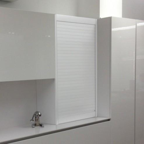Kit de cabinet de rouleau de cuisine en aluminium blanc