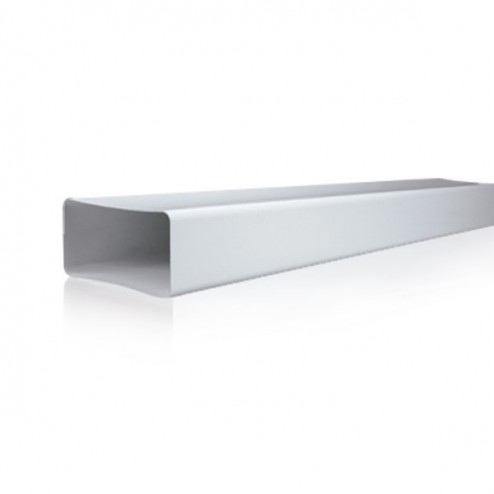 Tube plat rectangulaire rigide 90x180 L1500mm
