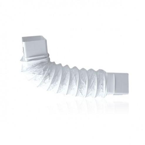 Coude rectangulaire souple 90x180mm Long 500mm