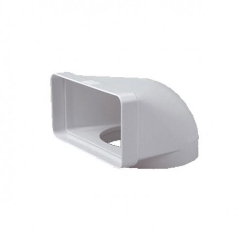 L'articulation du coude vertical 90 ° Du diamètre de 120 mm à 75x150 mm