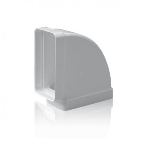 Coude rectangulaire horizontal 90 ° 75x150 mm