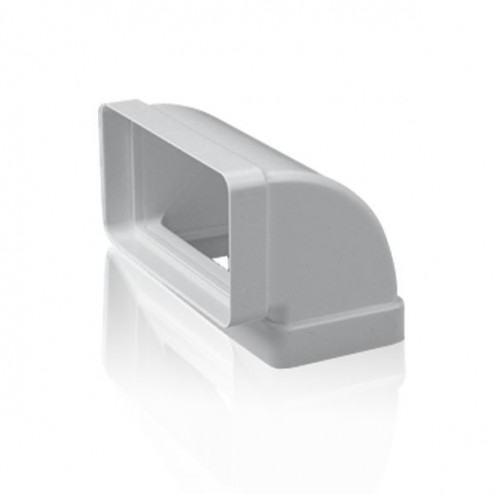 Coude rectangulaire verticale à 90 ° 60x120 mm