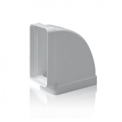 Coude rectangulaire horizontal 90 ° 60x120 mm