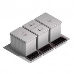 Cube corbeille de recyclage, je Cajon 80 cms