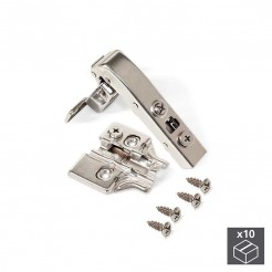 Bras de charnière Angle de 90 ° avec Frein et Excentrique Emuca X91 (10 pcs)