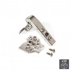 Bras de charnière Angle de 90 ° avec Frein et Excentrique Emuca X91 Euro (10 pcs)
