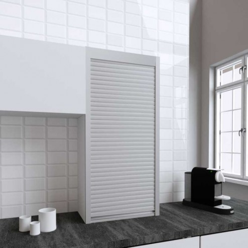 Kit pour Meuble Volet Roulant Cuisine Inox Mat 130x60
