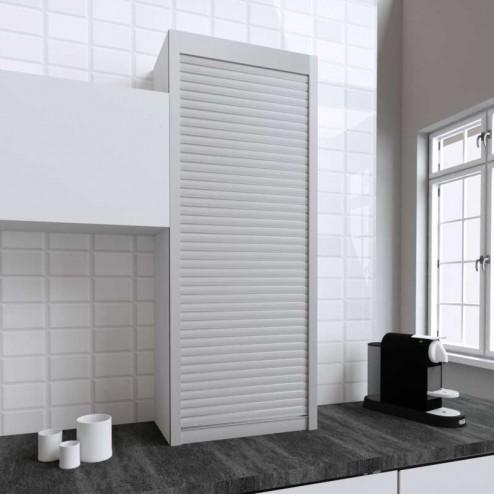Kit pour la fabrication de meubles tambour de cuisine en acier inoxydable mat 150x60