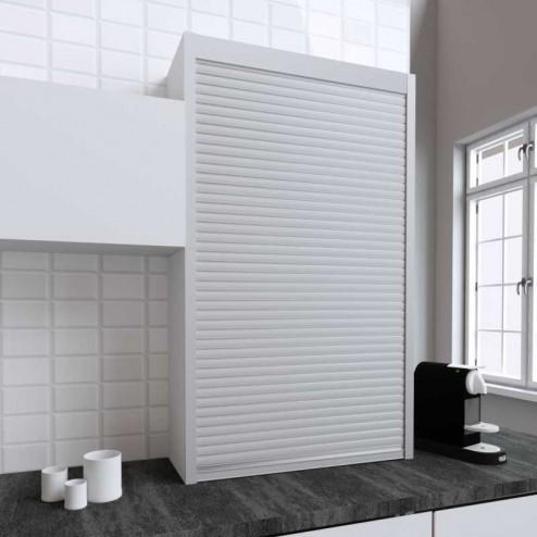 Kit pour la fabrication de meubles tambour de cuisine en acier inoxydable mat 150x90