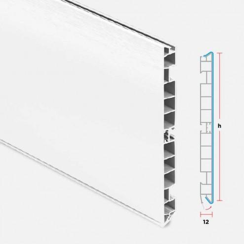 Plinthe PVC Aluminium Blanc Cuisine