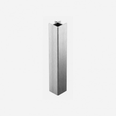Union Angle 90º Aluminium Brossé Plinthe PVC Cuisine