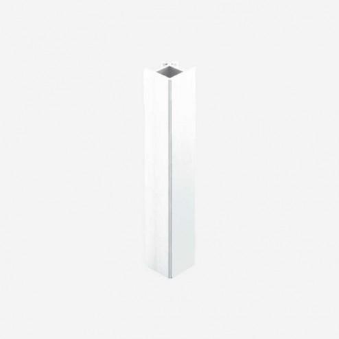 Union Angle 90º Aluminium Blanc Plinthe PVC Cuisine