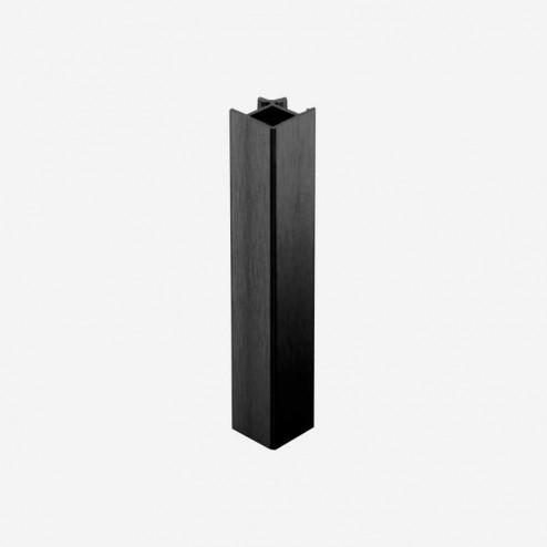 Union Angle 90º Aluminium Noir Plinthe PVC Cuisine
