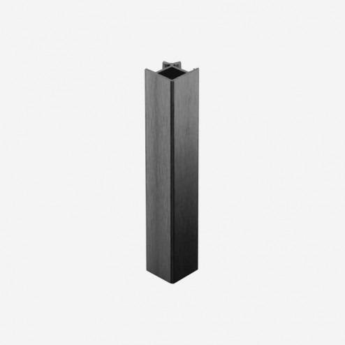 Union Angle 90° Aluminium Anthracite Plinthe PVC Cuisine