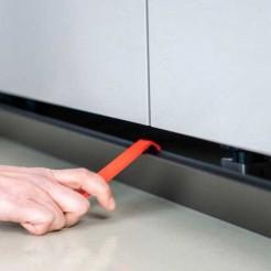 Levier Extraction Clip Magnétique Plinthe PVC