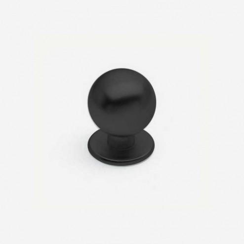 Bouton Métallique Noir Mat 3441