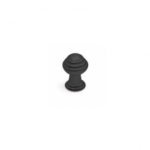 Bouton Métallique Noir Mat 3495