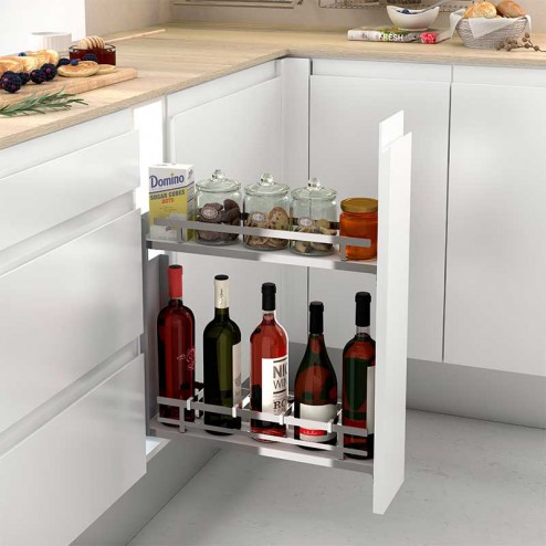 Wine Rack Amovible Chrome Rails Latéraux Plat