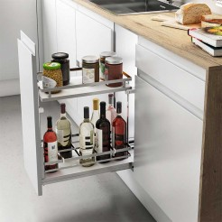 Wine Rack Amovible Chrome Guides Basale Plat