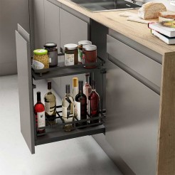 Wine Rack Amovible Anthracite Guides Basale Plat