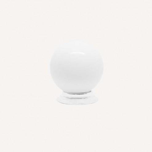 Bouton Résine Blanc Mat 3417
