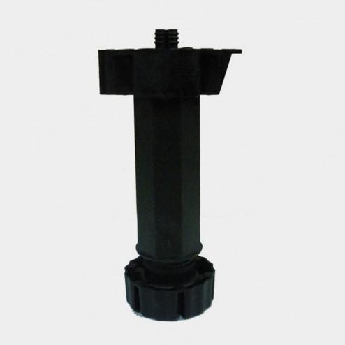 La jambe de cuisine réglable noir module d'armoire (4 Unités)