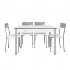 Table de Cuisine Secret + 4 Chaises Puce