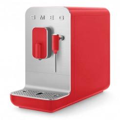 Super Machine à café automatique avec Vapeur 50's style rouge