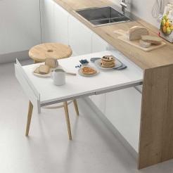Ferrure de Table Extensible Façade Fixe