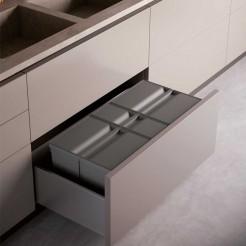 Kit Cube Corbeille de Recyclage Vert Maxi XL