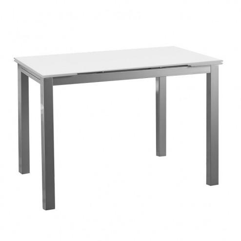 Table de Cuisine-salle à Manger en Verre Ailes s'Étendant 76x120~180x80 cm