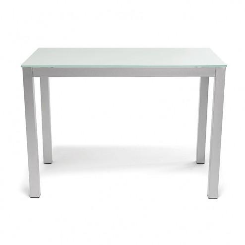Table de Cuisine en Verre Blanc 76x120x80 cm