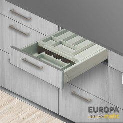 Cajon de cuisine double cubertero de PVC en Europe - plusieurs mesures