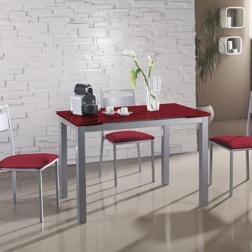 Set De Cuisine Table En Verre Extensible + 4 Chaises
