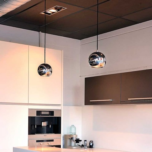 Lampe Occhi Plafond Halogène GU10 75W Chrome