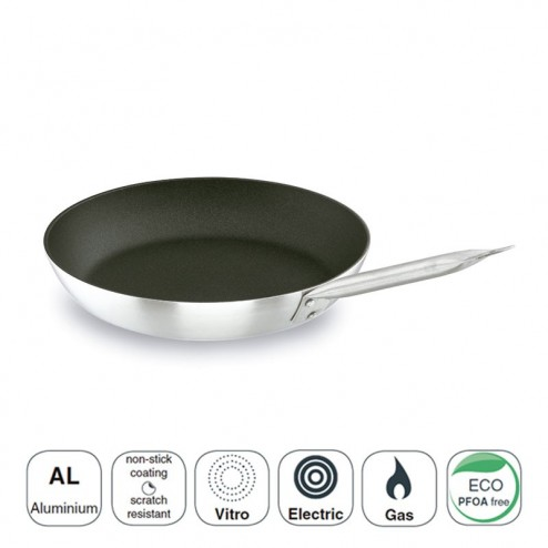 Poêle À Frire Chef-Tri-Couche D'Aluminium