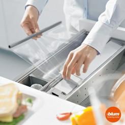 Coupeur de papier film plastique TIROIR de la cuisine ORGALINE cuisine Blum