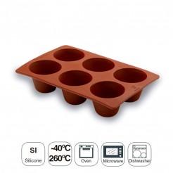 Moule À Pudding 6 Cavités En Silicone Pastryflex
