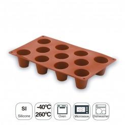 Moule À Cylindre Moyenne De 11 Cavité Silicone Pastryflex