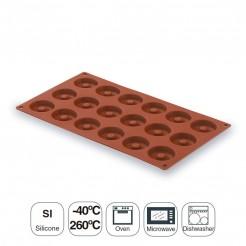Moule Mini Savarin 15 Cavités Silicone Pastryflex