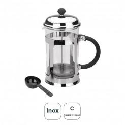 Bouilloire En Verre + Inox 18% Cr.