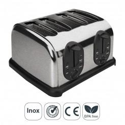 Grille-pain Automatique 4 Emplacements pour les Tranches de Pain