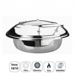 Corps Chafing Dish Luxe Ronde En Acier Inoxydable
