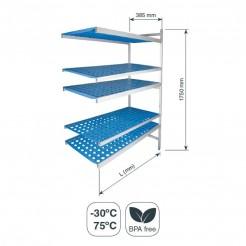 Rayonnage modulaire Ouvert 5 Tablettes de Fond 385 mm Hauteur 1750 mm