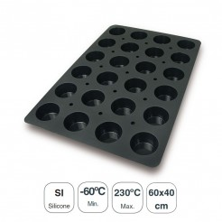 Moule À Muffins 24 Cavités En Silicone Noir