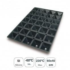 Moule Pyramides 35 Cavités En Silicone Noir
