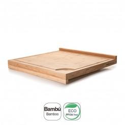 Table De Coupe Double En Bambou Naturel